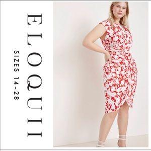 Eloquii Floral Wrap Dress Cap Sleeve